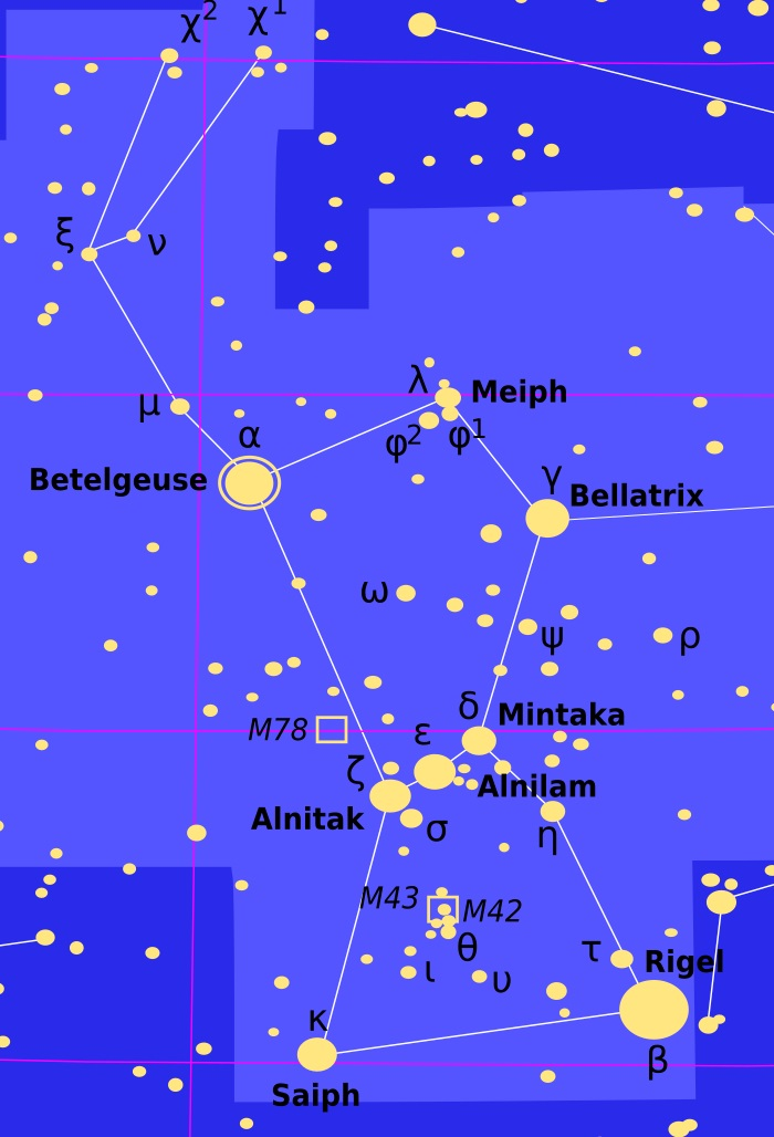 Betelgeza i Rigel w gwiazdozbiorze Oriona staną się kiedyś supernowymi