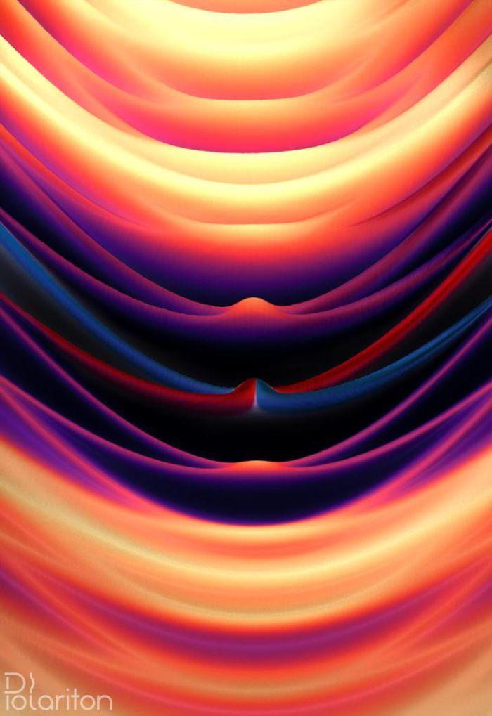 Zależność energii (pionowa oś) od kąta pod którym wychodzi spolaryzowane światło z wnęki anizotropowej optycznej (pozioma oś). (rys. Mateusz Król)