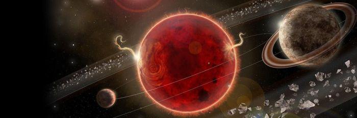 Artystyczna wizja Układu Proximy Centaura, w którym znajduje się planeta Proxima c. Credit: Lorenzo Santinelli