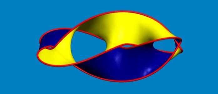 Powierzchnie Seiferta to powierzchnie, których granicami jest sznur węzła. Fot: uzyskane dzięki darmowemu programowi SeifertView